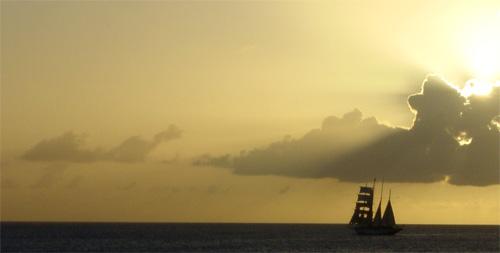 Anguilla_ship_sunset